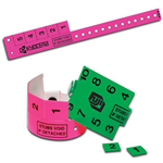 Multi-Tab Vinyl Wristband with 5 Tabs