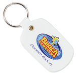 Flexible Plastic Oval Key Tag