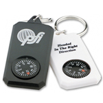 Molded Plastic Compass Key Tag