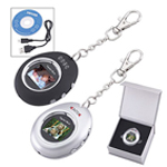 Oval Digital Photo Keychain