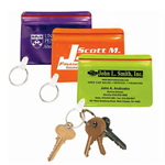 Waterproof Vinyl Id Holder Keychain