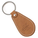 Leather Raindrop Keytag With Split