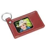 Leather Photo Frame Key Fob