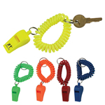 Whistle Wristband Coil Keychain