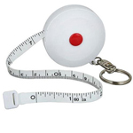 Round Tape Measure Key Ring