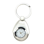Silver Dial Watch Keychain
