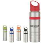 24 Oz Stainless Bottle With Silcon