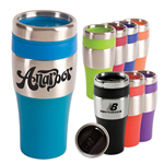 16 Oz Bpa Free Plastic Travel Mug