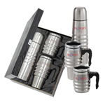 Stainless Steel Tri Roll Travel Mug