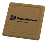 Square Wood Coaster