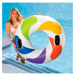 Colored Whirl Inflatable Tube