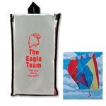 Multi Colored Kite With Clear Pouch