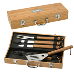 Bamboo 5Pc Bbq Set