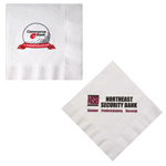 White Coin Edge Luncheon Napkins