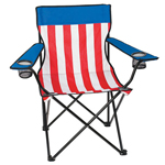 Nylon Stripe Folding Chair