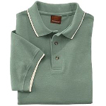 Mens Pique Polo With Tipping