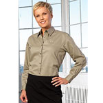Ladies Cotton Twill Shirt with Collar