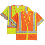 Safety Vest With Zipper Front Closu