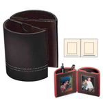 Leather Photo Frame Pen Holder