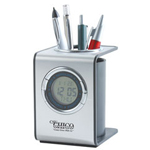 Digital Clock with Pen Holder