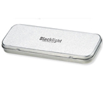 Satin Silver Metal Pen Box