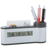 Pen Holder & Card Holder Clock