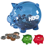 Acrylic Pig-Shaped Coin Bank