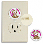 Round Electrical Outlet Safety Plug