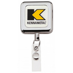 Square Metal Retract Badge Holder
