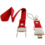 256MB Lanyard Neck Strap USB Flash