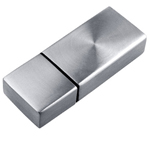 2GB Metal Chrome Swirl Flash Drive