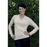 Womens Organic Cotton V Neck Sweate