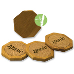 Octagon Shaped Bamboo Coaster