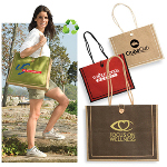 Jute Tote Bag With Button Loop Clos