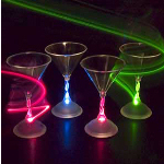 Light Up Flashing Martini Glass
