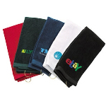 Trifold Cotton Golf Towel With Hook