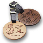 Round Wooden Bag Tag