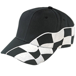 Cotton Twill Cap With Racing Flag