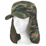 Ear Flap Cotton Twill Camo Cap