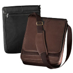 Mini Leather Nylon Laptop Briefcase