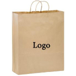 Brown Kraft Paper Shopper 16
