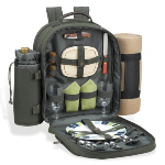 Picnic Backpack with Blanket for Tw