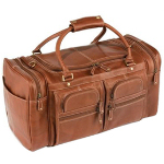 Organized Travelers Leather Duffel
