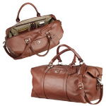 Leather Weekender Duffel