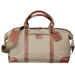 Leather Trim Weekender Duffel