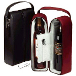 Leather Double Wine Holder