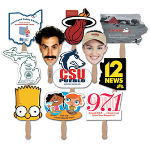 Custom Shape Stapled Hand Fan