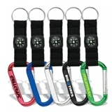Carabiner Key Tag with Compass