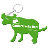 Cow Cattle Bottle Opener Keychain
