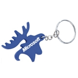 Moose Head Bottle Opener Keychain